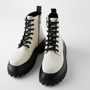 Zara lug sole platform boots